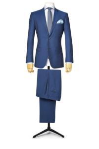 a0205458294430 Costume sur mesure bleu clair fil-à-fil