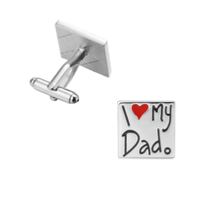 "Boutons de manchette ""I love my dad"""