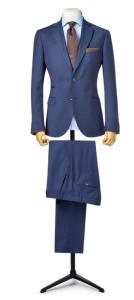 f02930b2e87cc1 Costume sur mesure bleu marine avec poche ticket